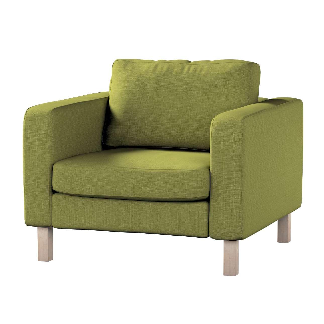 Pokrowiec na fotel Karlstad, krótki w kolekcji Living, tkanina: 161-13