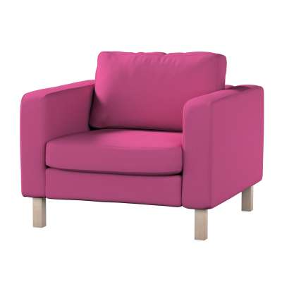 Pokrowiec na fotel Karlstad, krótki w kolekcji Living II, tkanina: 161-29