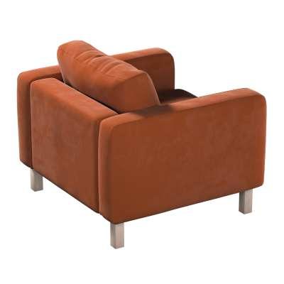 Pokrowiec na fotel Karlstad, krótki w kolekcji Velvet, tkanina: 704-33