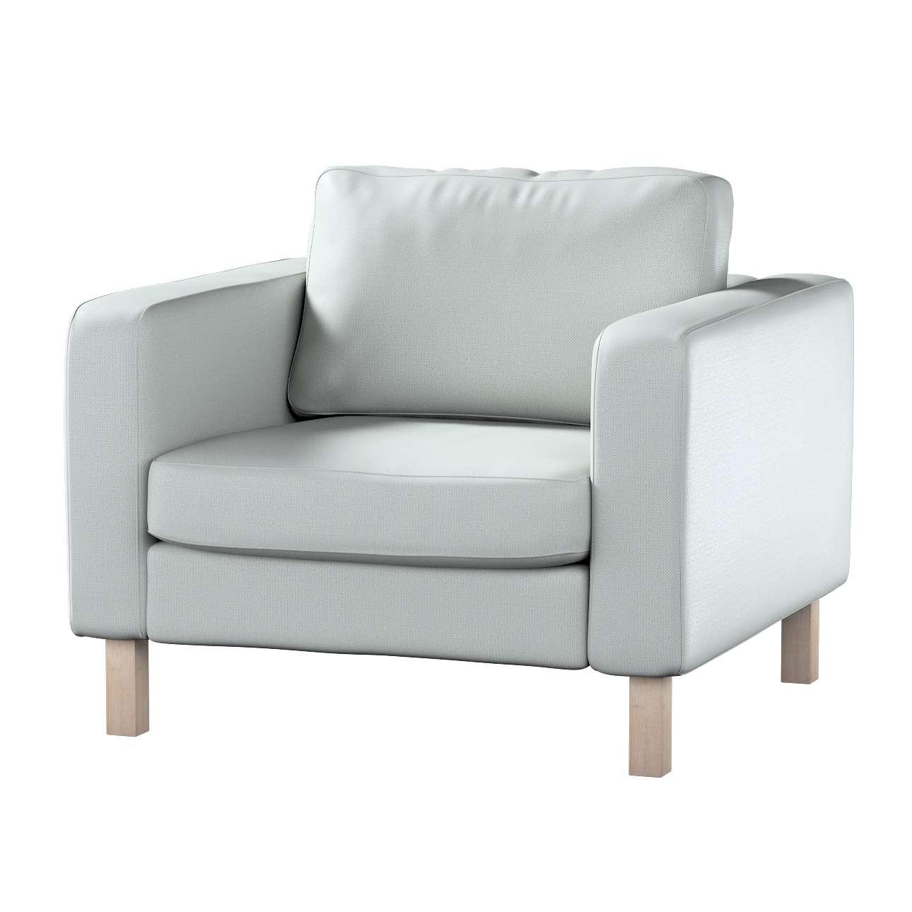 Pokrowiec na fotel Karlstad, krótki w kolekcji Bergen, tkanina: 161-72