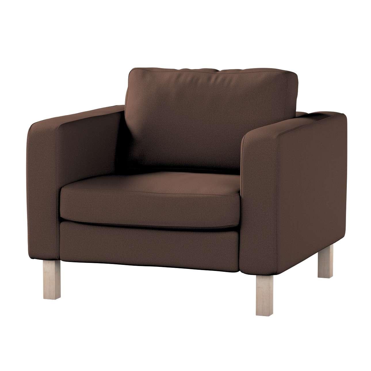 Pokrowiec na fotel Karlstad, krótki w kolekcji Bergen, tkanina: 161-73