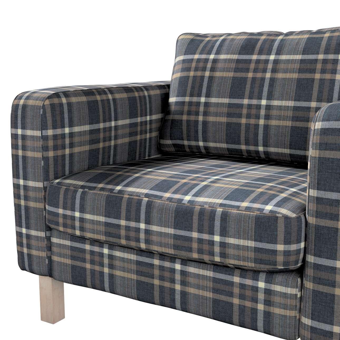 Pokrowiec na fotel Karlstad, krótki w kolekcji Edinburgh, tkanina: 703-16