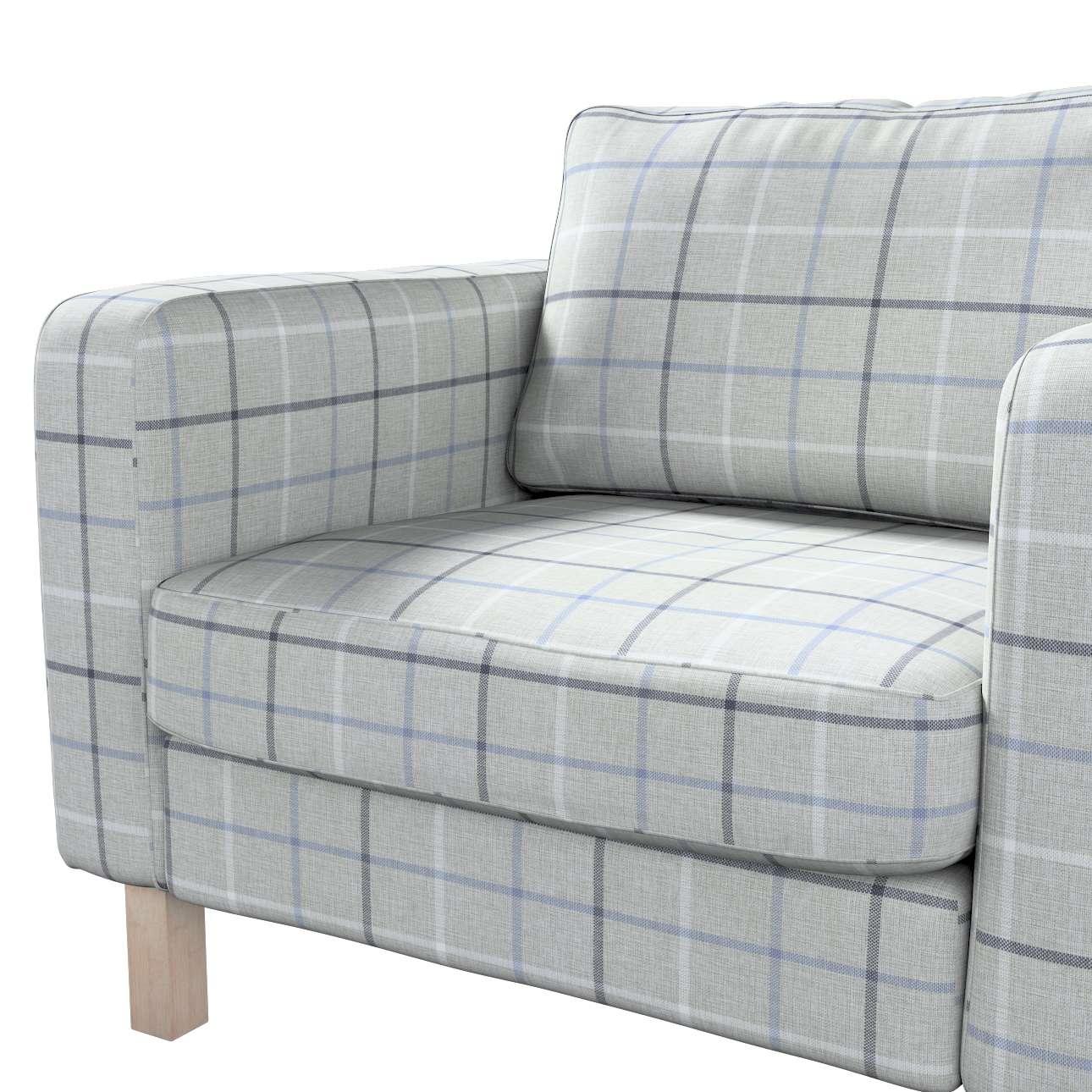 Pokrowiec na fotel Karlstad, krótki w kolekcji Edinburgh, tkanina: 703-18