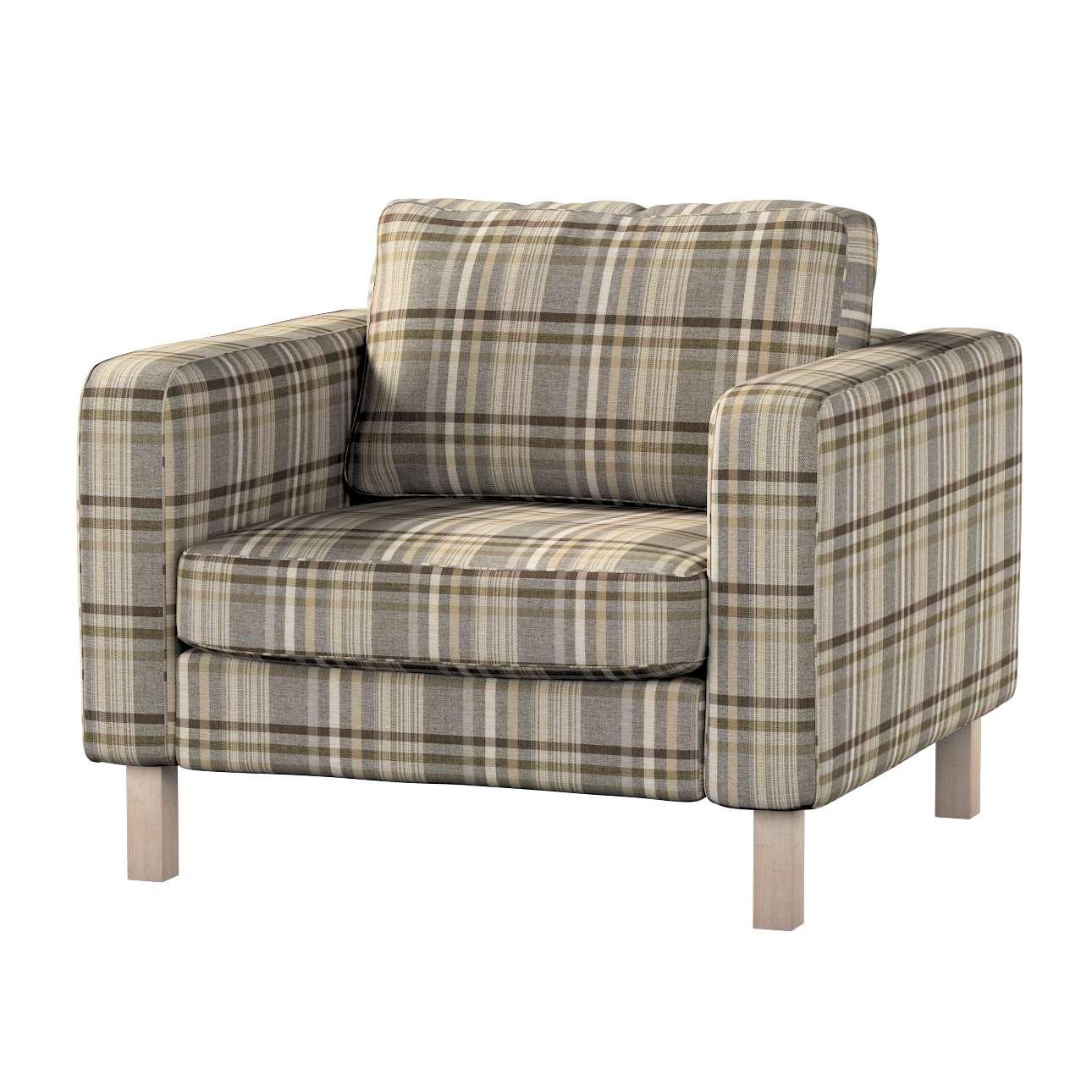 Pokrowiec na fotel Karlstad, krótki w kolekcji Edinburgh, tkanina: 703-17