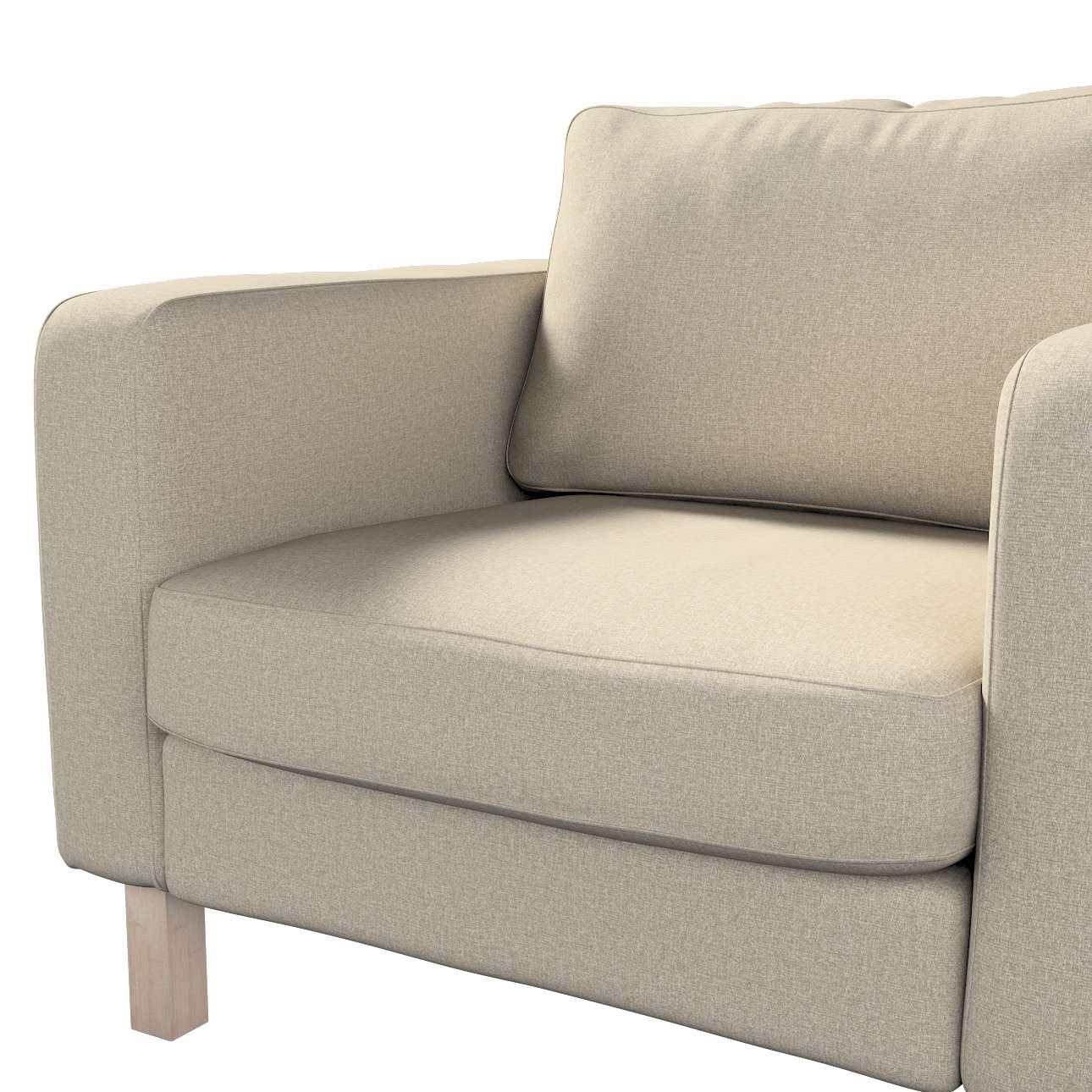 Pokrowiec na fotel Karlstad, krótki w kolekcji Amsterdam, tkanina: 704-52