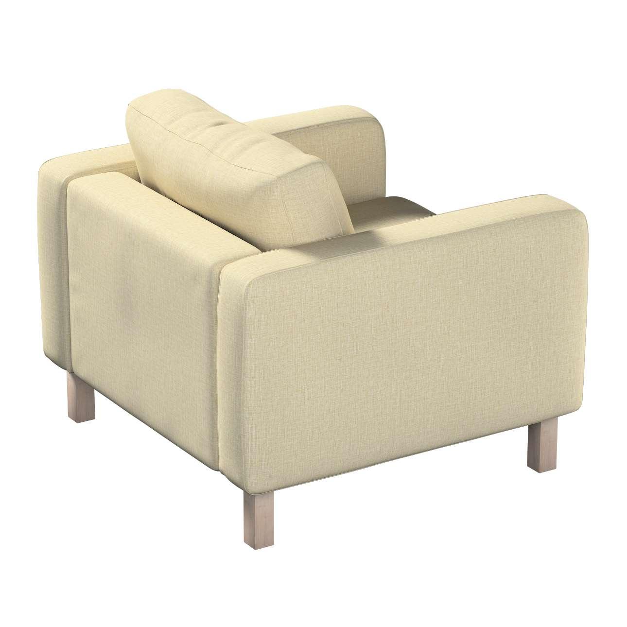 Pokrowiec na fotel Karlstad, krótki w kolekcji Living, tkanina: 161-45
