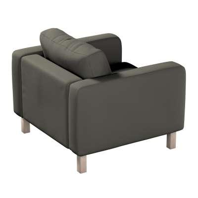 Pokrowiec na fotel Karlstad, krótki w kolekcji Living, tkanina: 161-55