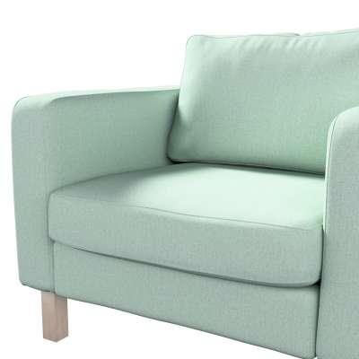 Pokrowiec na fotel Karlstad, krótki w kolekcji Living, tkanina: 161-61