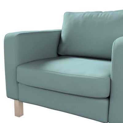 Pokrowiec na fotel Karlstad, krótki w kolekcji Cotton Panama, tkanina: 702-40
