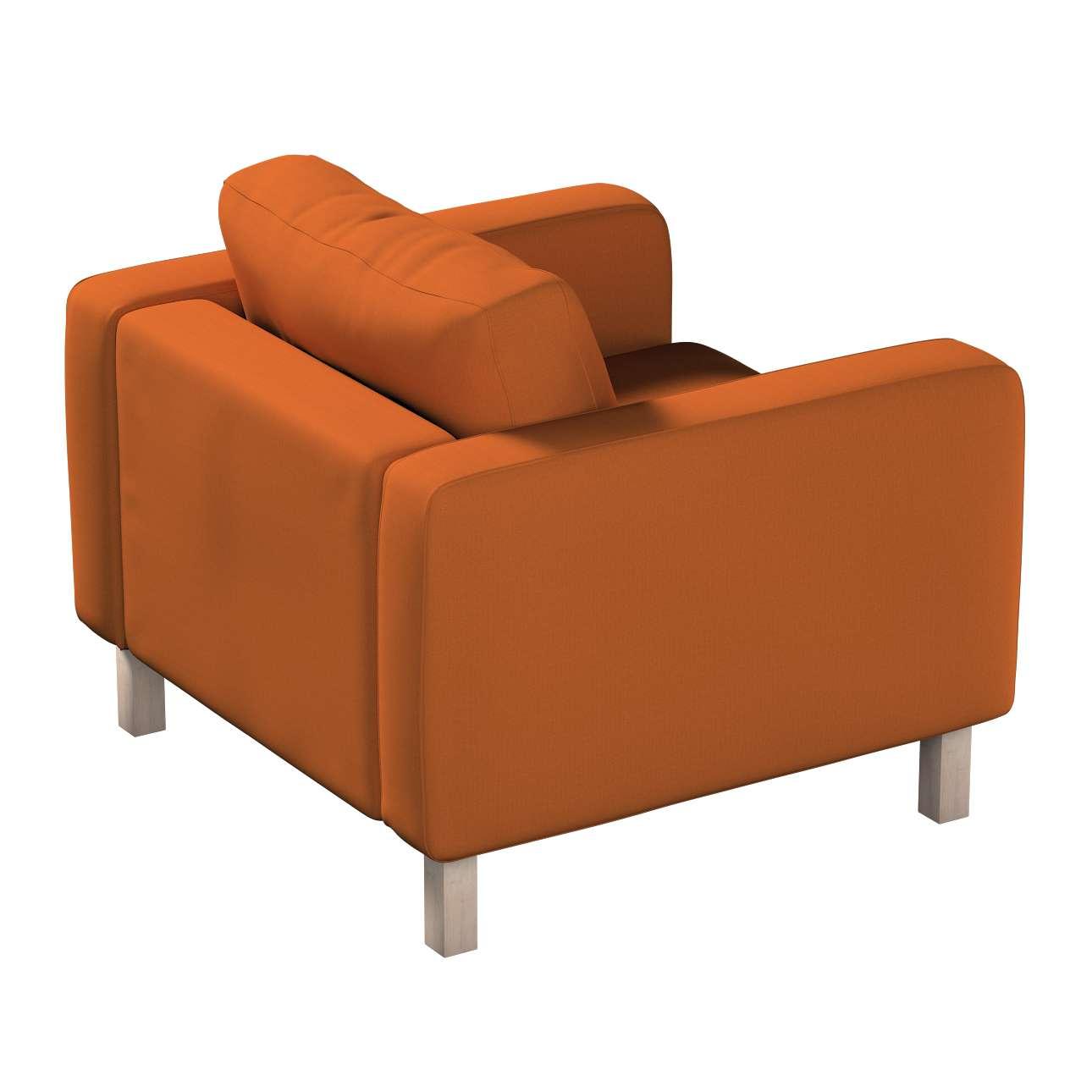 Pokrowiec na fotel Karlstad, krótki w kolekcji Cotton Panama, tkanina: 702-42
