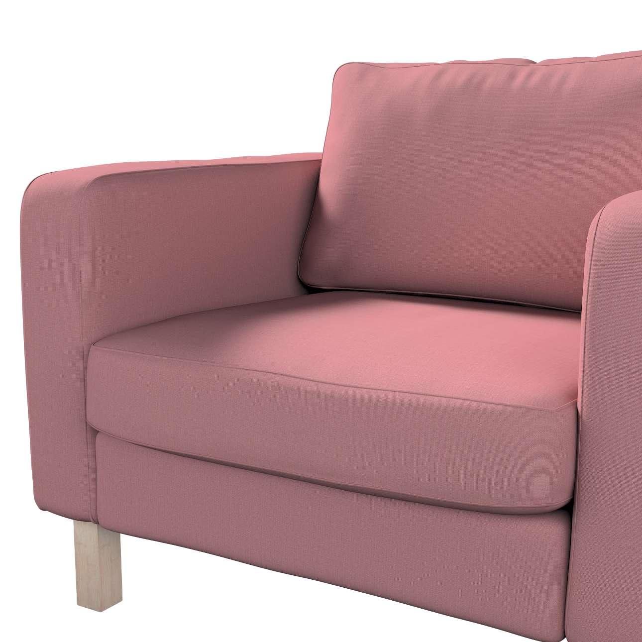 Pokrowiec na fotel Karlstad, krótki w kolekcji Cotton Panama, tkanina: 702-43