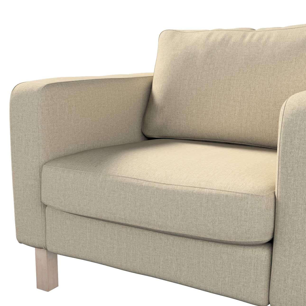 Pokrowiec na fotel Karlstad, krótki w kolekcji City, tkanina: 704-80