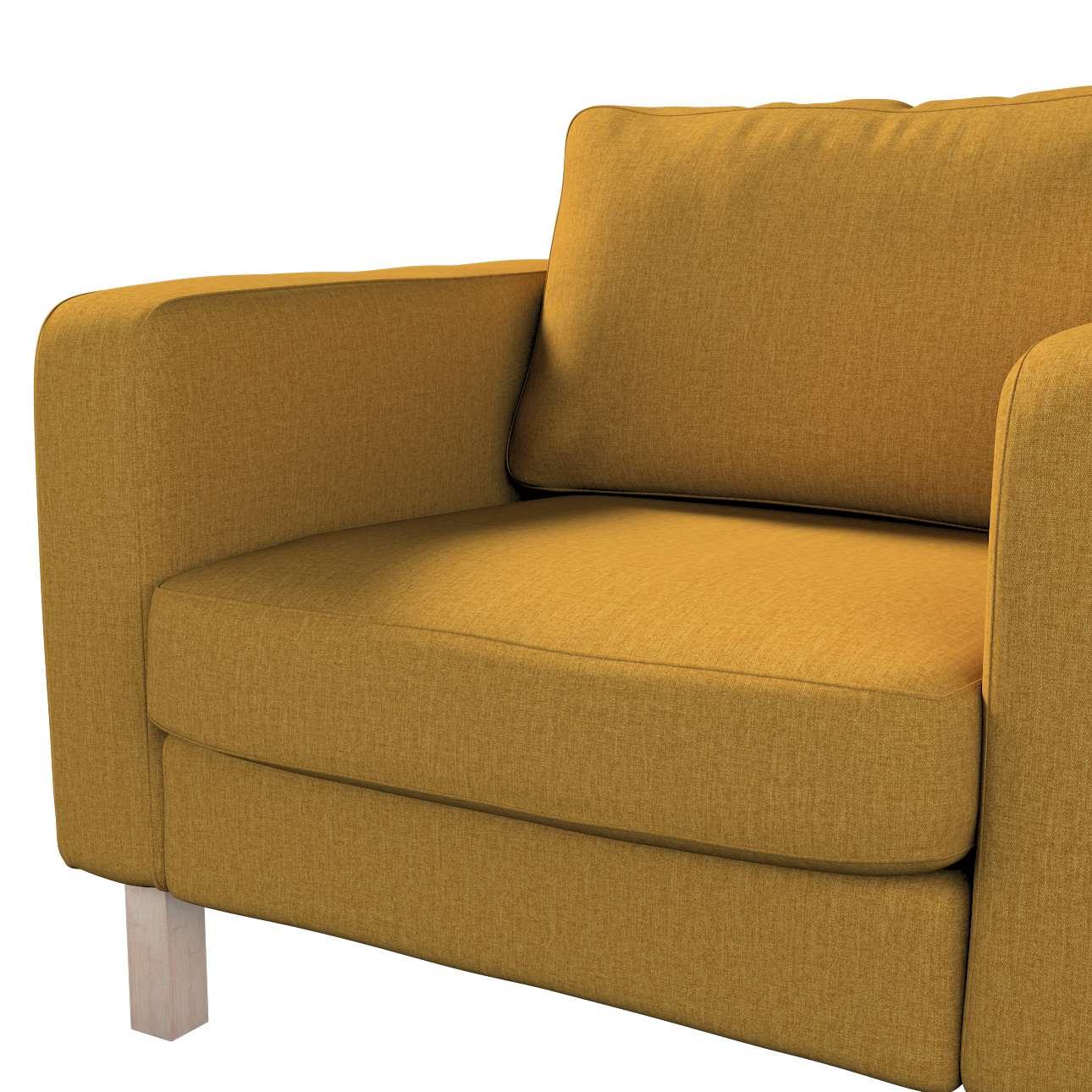 Pokrowiec na fotel Karlstad, krótki w kolekcji City, tkanina: 704-82