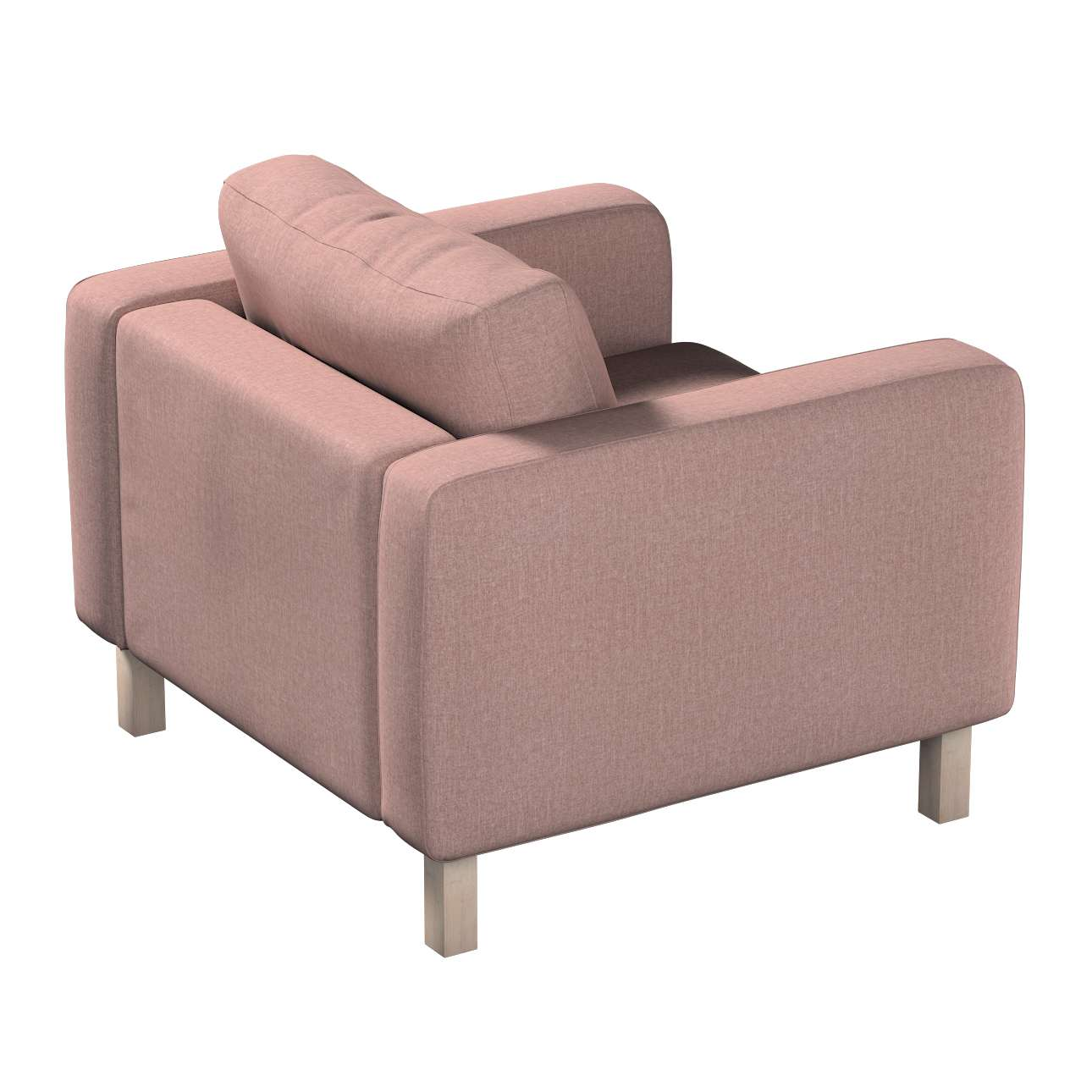 Pokrowiec na fotel Karlstad, krótki w kolekcji City, tkanina: 704-83