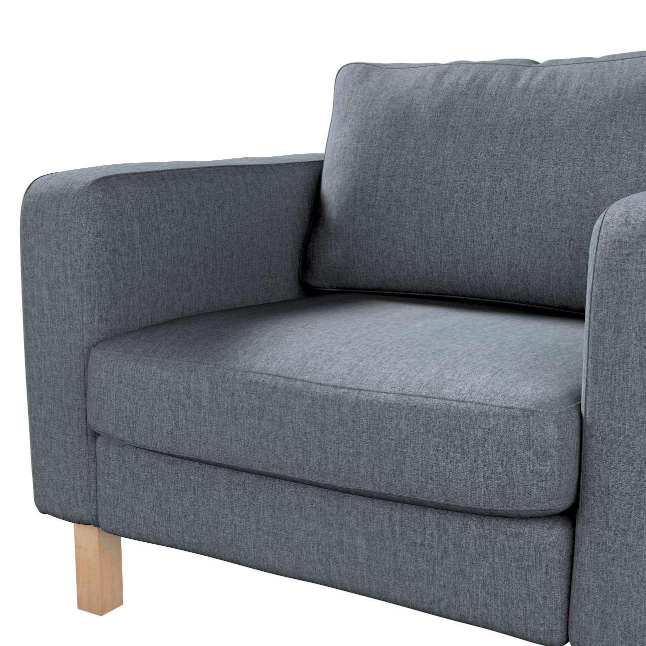 Pokrowiec na fotel Karlstad, krótki w kolekcji City, tkanina: 704-86