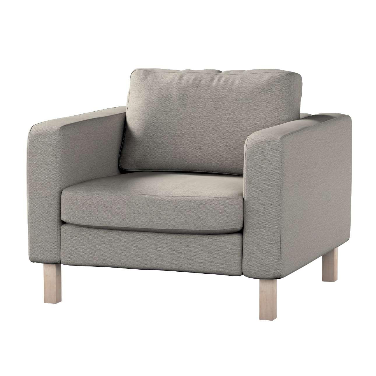Pokrowiec na fotel Karlstad, krótki w kolekcji Madrid, tkanina: 161-91