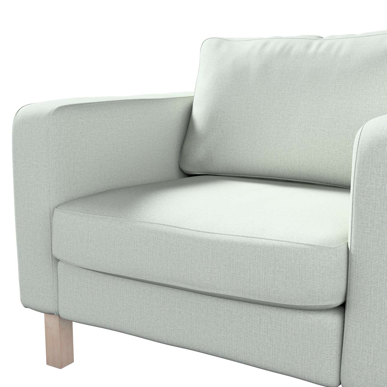 Pokrowiec na fotel Karlstad, krótki w kolekcji Living, tkanina: 161-41