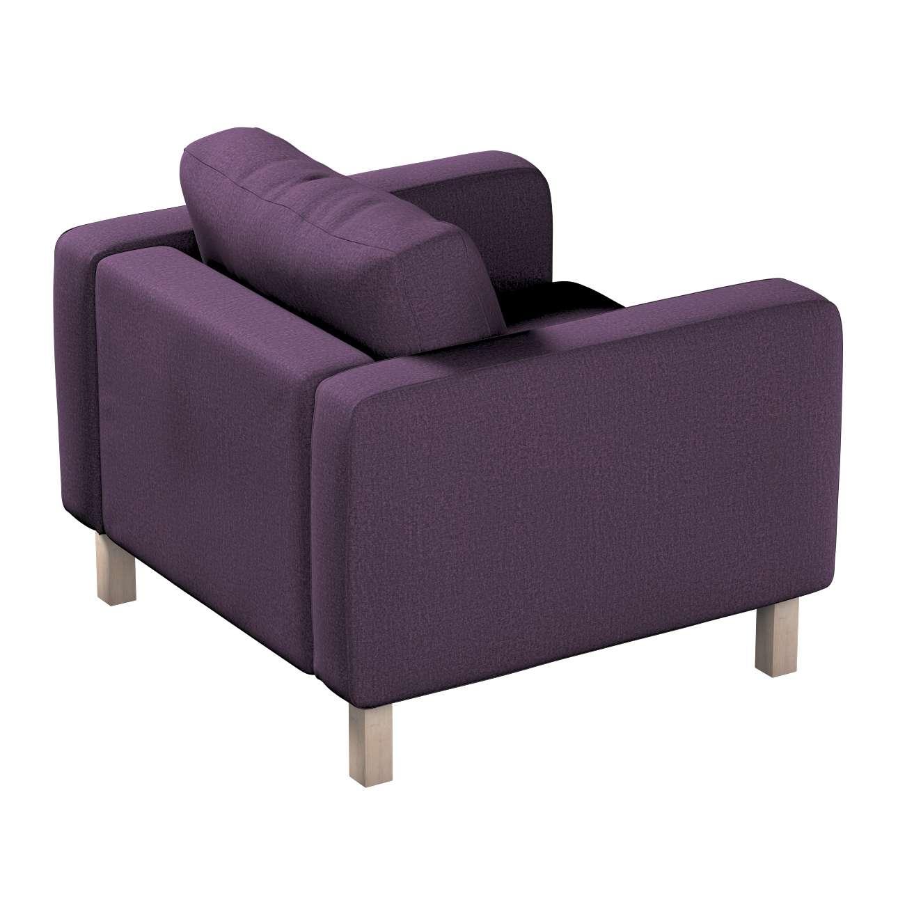 Pokrowiec na fotel Karlstad, krótki w kolekcji Living, tkanina: 161-67