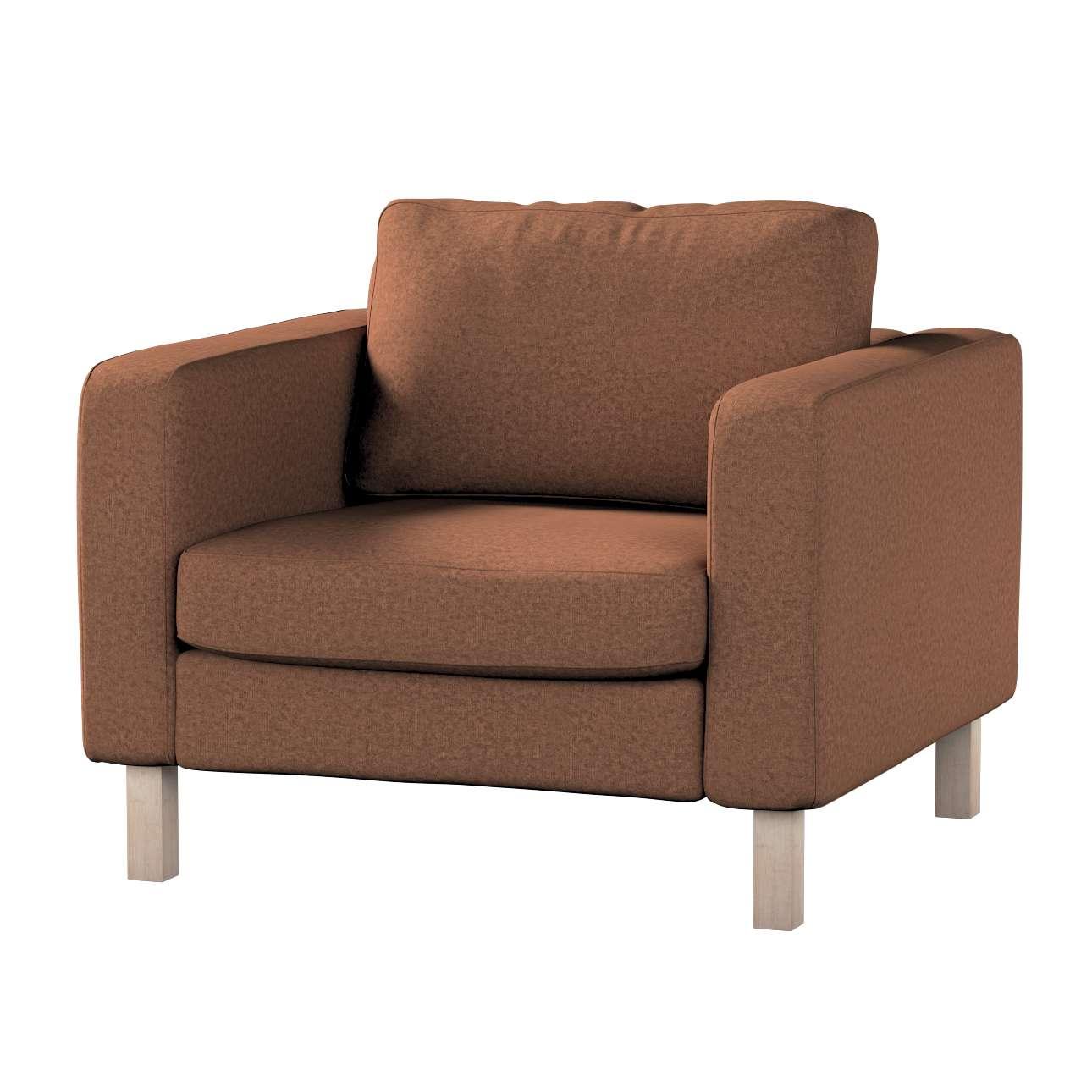 Pokrowiec na fotel Karlstad, krótki w kolekcji Living, tkanina: 161-65