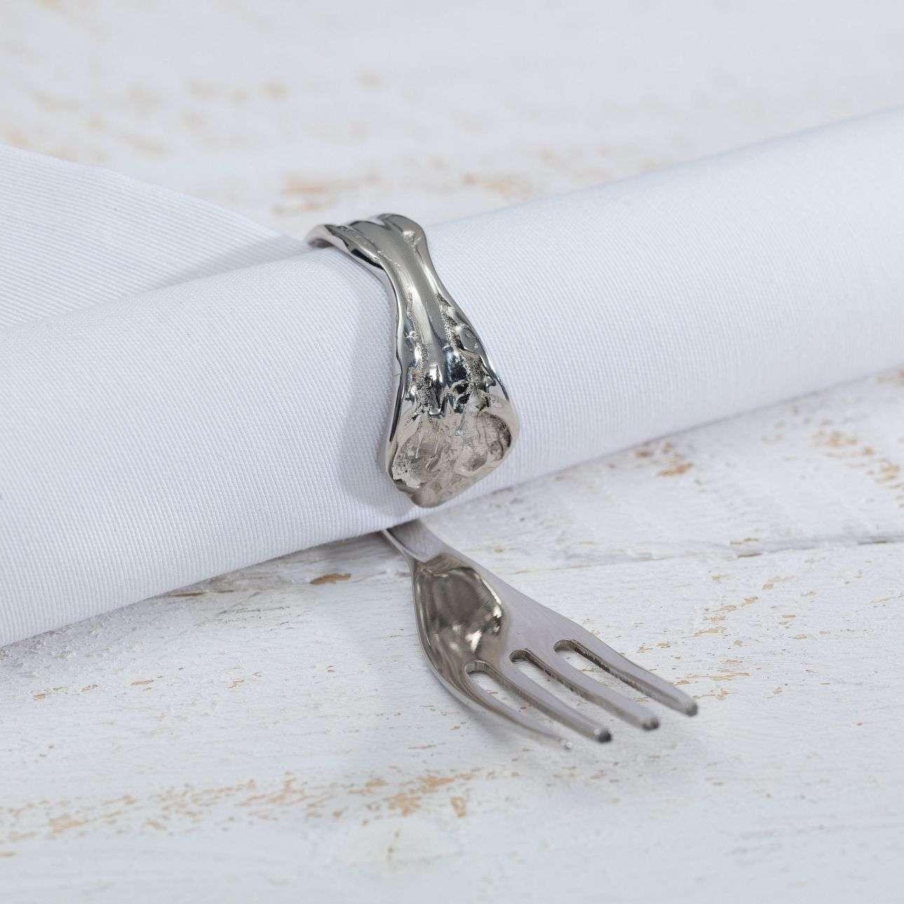 Serviettenring Fork, 10 × 2,5 × 4 cm   Heimtextilien > Tischdecken und Co > Servietten   Dekoria