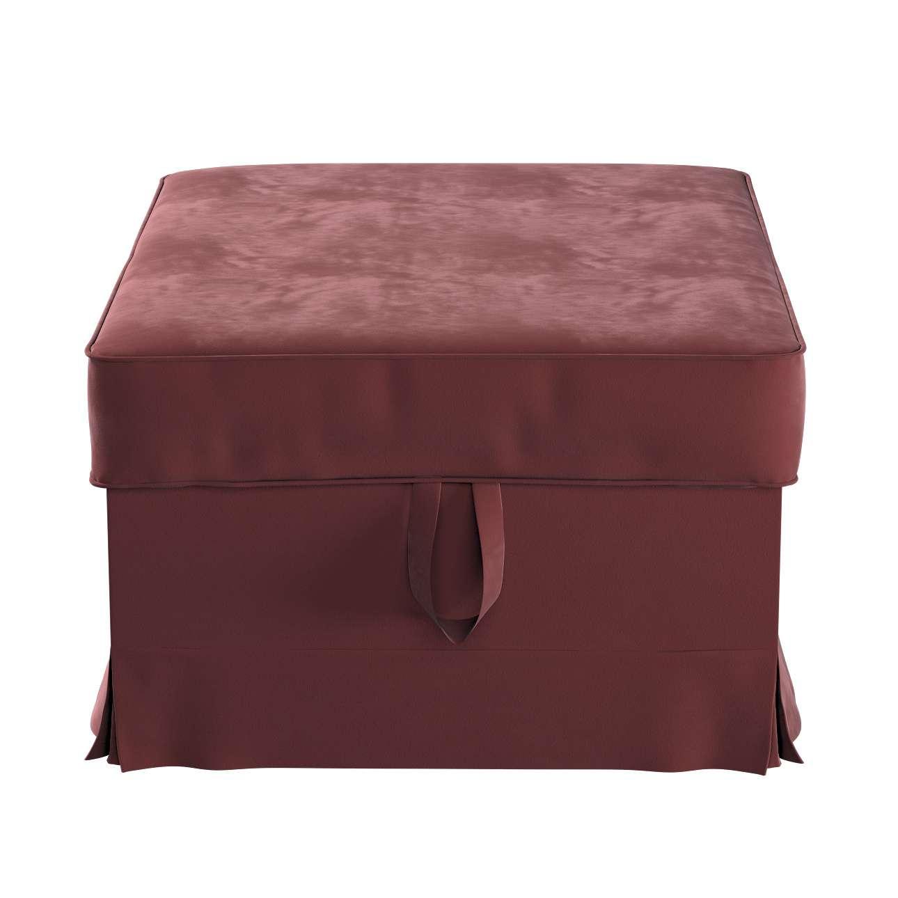 Pokrowiec na podnóżek Ektorp Bromma w kolekcji Velvet, tkanina: 704-26