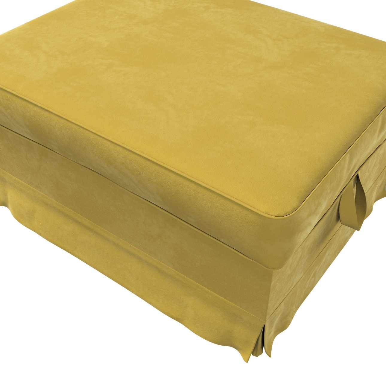 Pokrowiec na podnóżek Ektorp Bromma w kolekcji Velvet, tkanina: 704-27