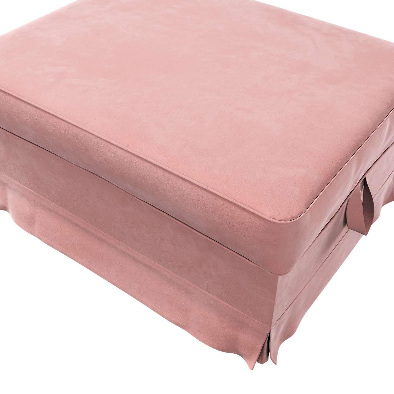 Pokrowiec na podnóżek Ektorp Bromma w kolekcji Velvet, tkanina: 704-30