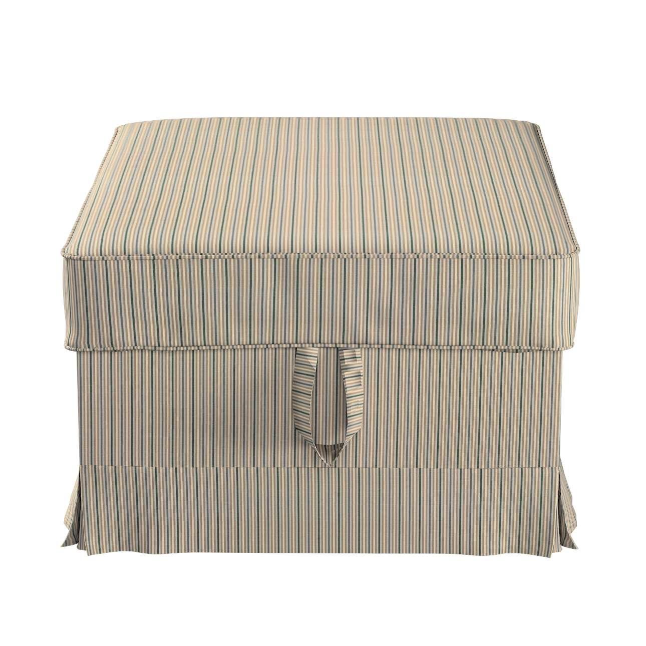 Pokrowiec na podnóżek Ektorp Bromma w kolekcji Londres, tkanina: 143-38