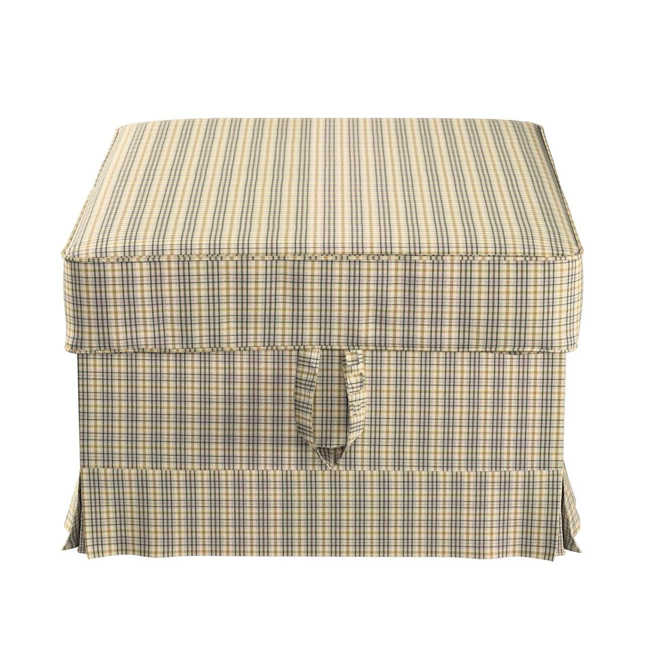 Pokrowiec na podnóżek Ektorp Bromma w kolekcji Londres, tkanina: 143-39