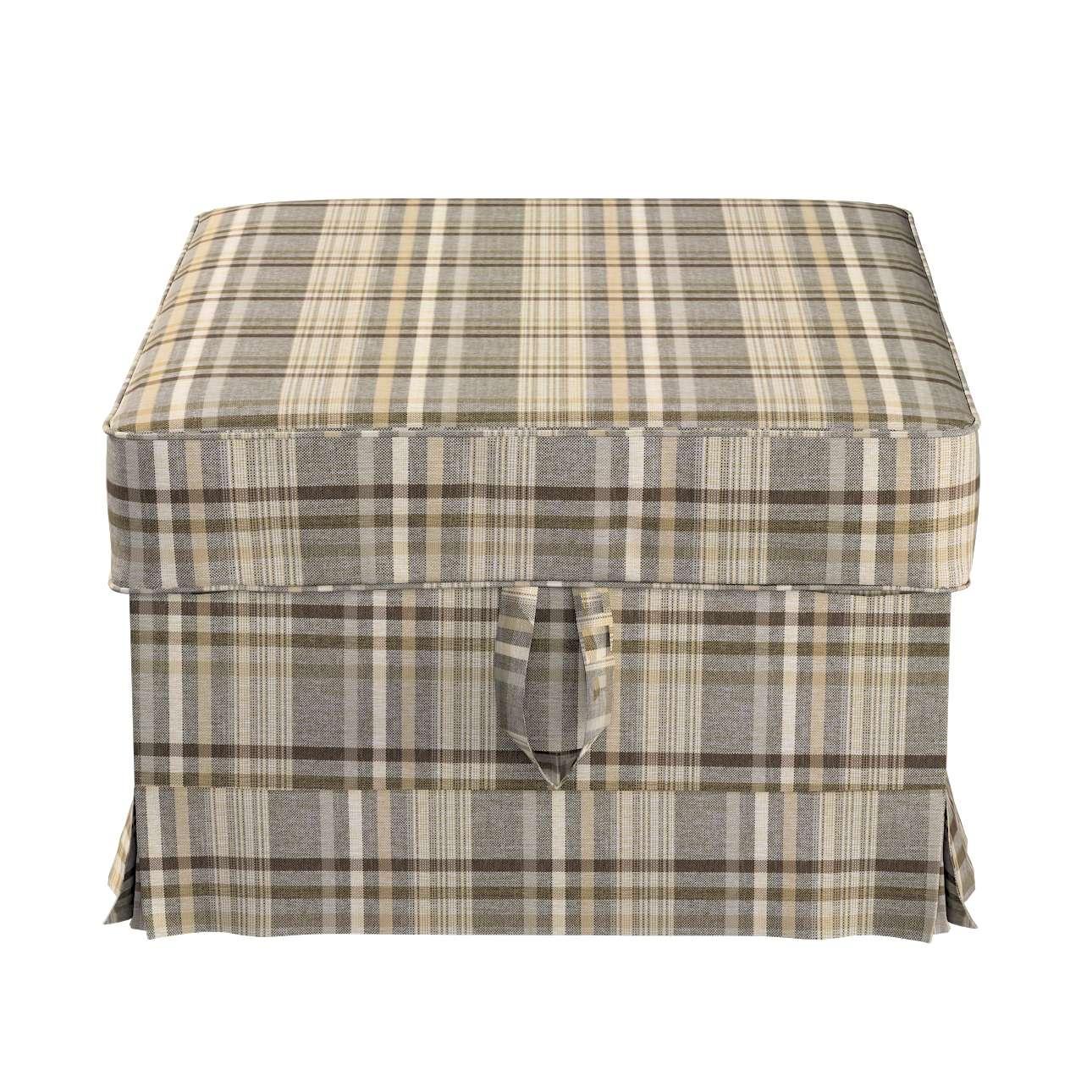 Pokrowiec na podnóżek Ektorp Bromma w kolekcji Edinburgh, tkanina: 703-17