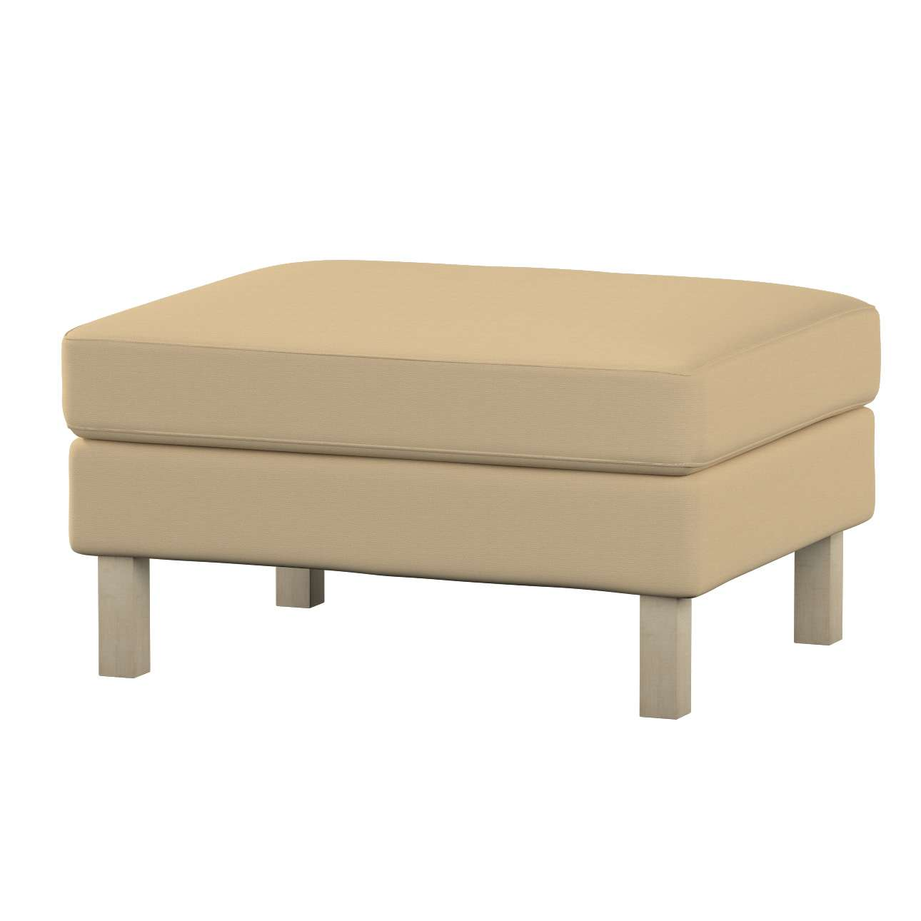 Karlstad footstool cover Karlstad footstool cover in collection Cotton Panama, fabric: 702-01