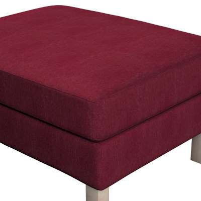 Karlstad footstool cover 702-19 burgundy chenille Collection Chenille
