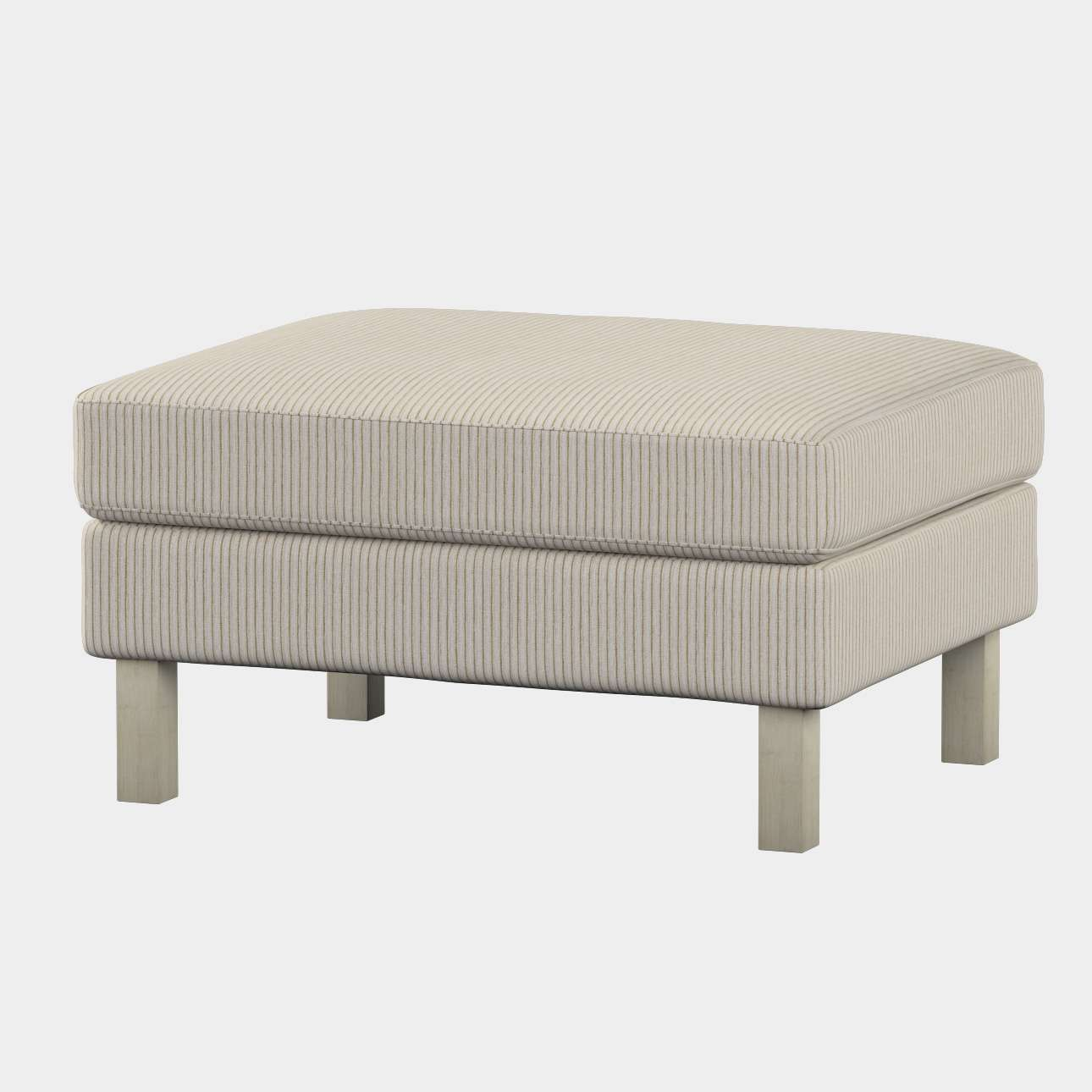 Karlstad footstool cover Karlstad footstool cover in collection Living, fabric: 105-90