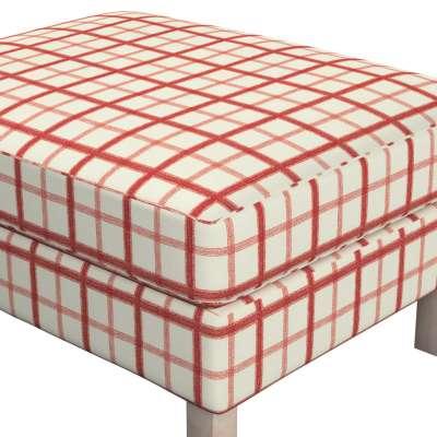 Bezug für Karlstad Hocker 131-15 creme- rot Kollektion Avinon