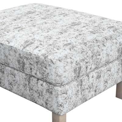 Pokrowiec na podnóżek Karlstad w kolekcji Velvet, tkanina: 704-49