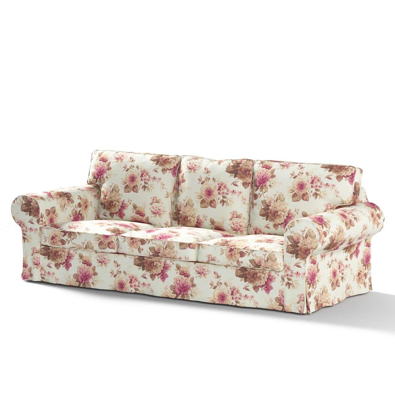 Ikea Ektorp 3 Sits Bäddsoffa Med Förvaring För Sängkläder Blommor