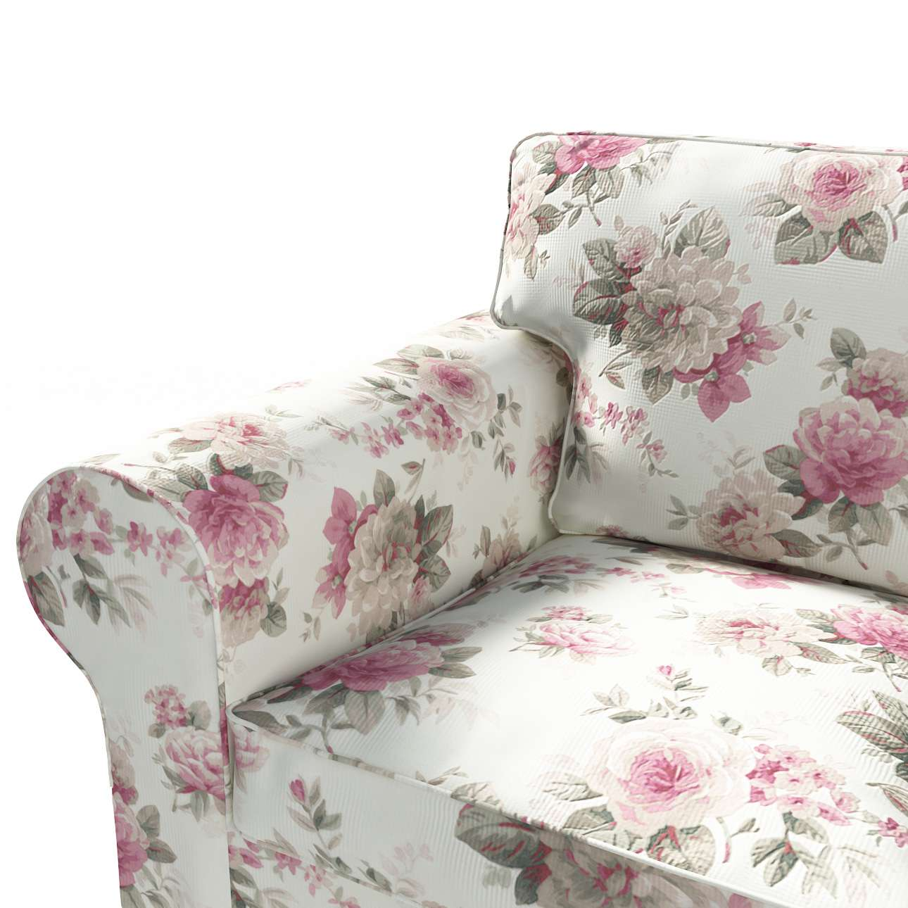 Pokrowiec na sofę Ektorp 3-osobową, rozkładaną, PIXBO w kolekcji Londres, tkanina: 141-07