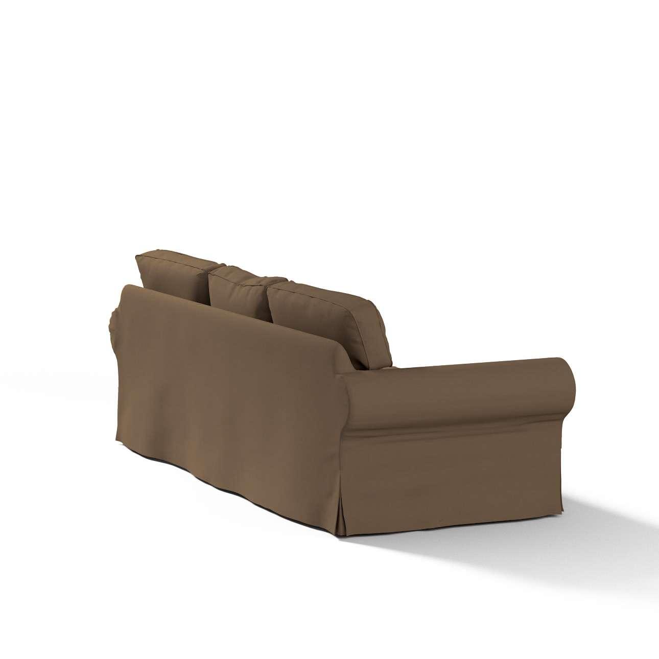 Pokrowiec na sofę Ektorp 3-osobową, rozkładaną, PIXBO w kolekcji Cotton Panama, tkanina: 702-02