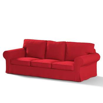 Pokrowiec na sofę Ektorp 3-osobową, rozkładaną STARY MODEL w kolekcji Cotton Panama, tkanina: 702-04
