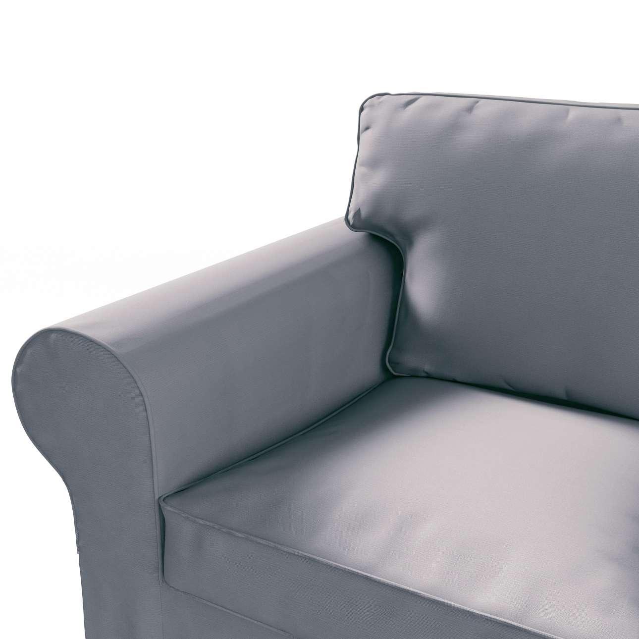 Pokrowiec na sofę Ektorp 3-osobową, rozkładaną, PIXBO w kolekcji Cotton Panama, tkanina: 702-07