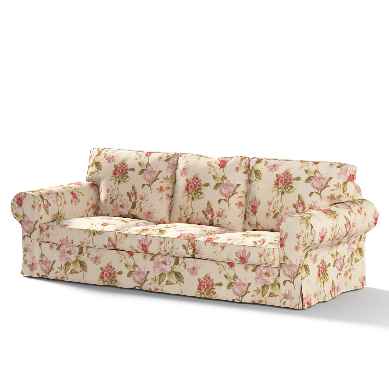 Pokrowiec na sofę Ektorp 3-osobową, rozkładaną, PIXBO w kolekcji Londres, tkanina: 123-05