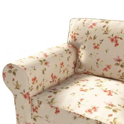Ektorp trivietės sofos-lovos užvalkalas 124-05 gėlės gelsvai kreminiame fone Kolekcija Londres