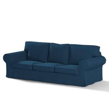 Pokrowiec na sofę Ektorp 3-osobową, rozkładaną, PIXBO w kolekcji Cotton Panama, tkanina: 702-30