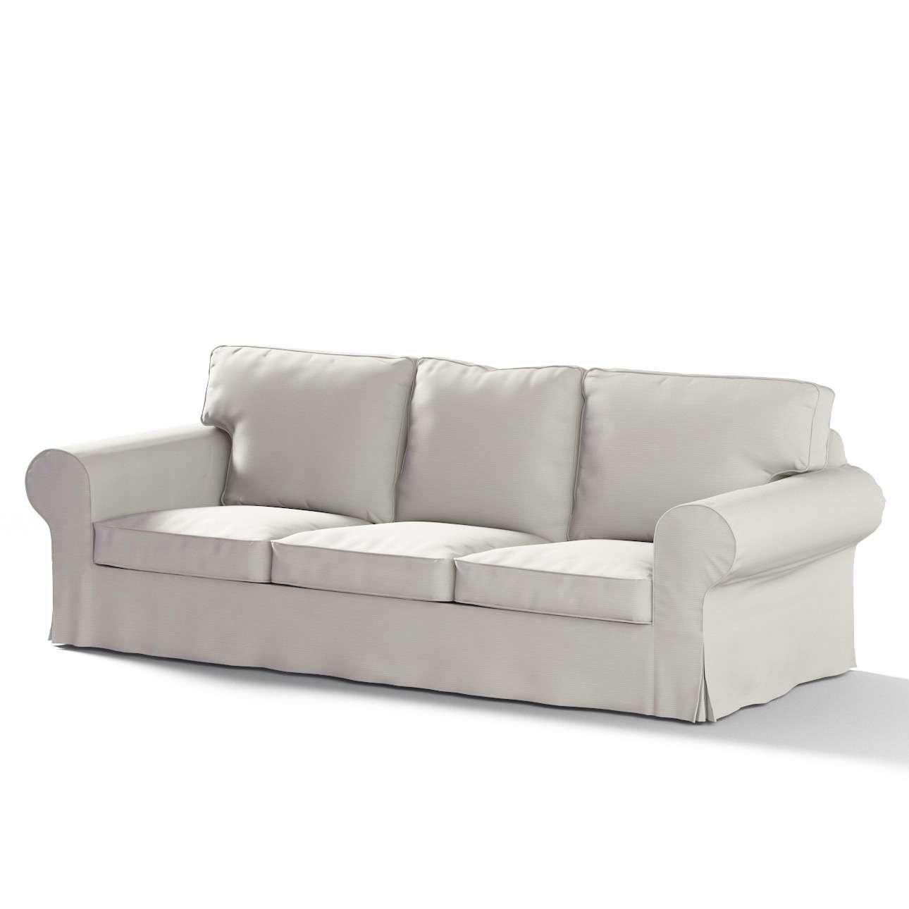 Pokrowiec na sofę Ektorp 3-osobową, rozkładaną, PIXBO w kolekcji Cotton Panama, tkanina: 702-31