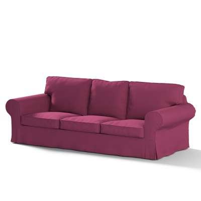 Pokrowiec na sofę Ektorp 3-osobową, rozkładaną, PIXBO w kolekcji Cotton Panama, tkanina: 702-32