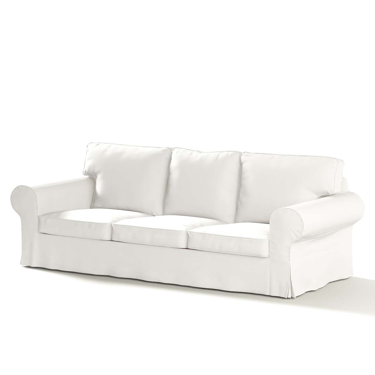 Pokrowiec na sofę Ektorp 3-osobową, rozkładaną STARY MODEL w kolekcji Cotton Panama, tkanina: 702-34