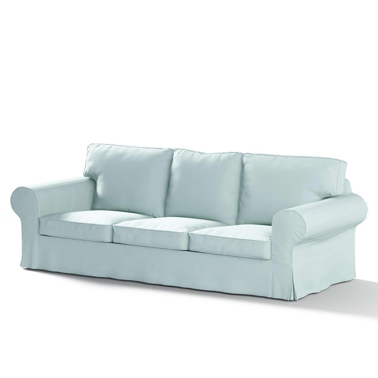 Pokrowiec na sofę Ektorp 3-osobową, rozkładaną STARY MODEL w kolekcji Cotton Panama, tkanina: 702-10