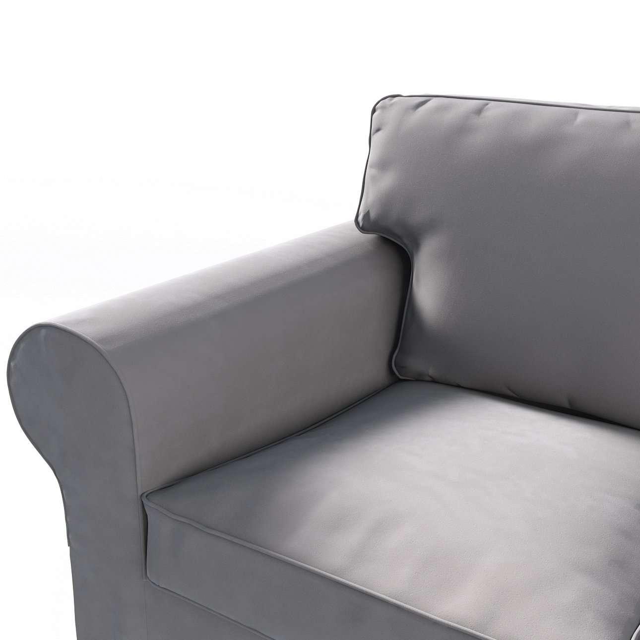 Pokrowiec na sofę Ektorp 3-osobową, rozkładaną, PIXBO w kolekcji Velvet, tkanina: 704-11