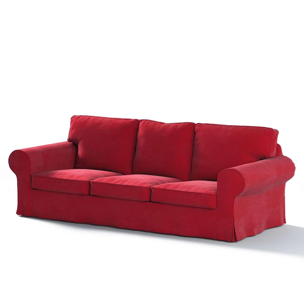 Pokrowiec na sofę Ektorp 3-osobową, rozkładaną, PIXBO w kolekcji Velvet, tkanina: 704-15