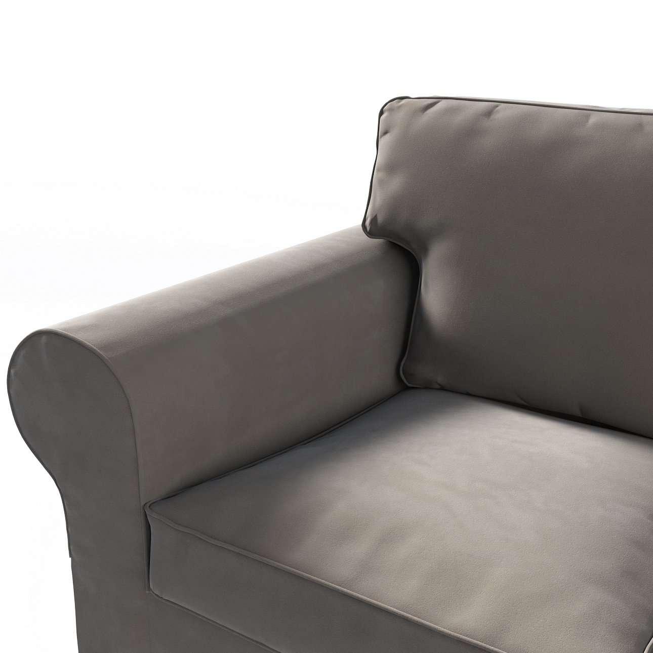 Pokrowiec na sofę Ektorp 3-osobową, rozkładaną, PIXBO w kolekcji Velvet, tkanina: 704-19